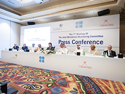 A press conference was held following the 7th meeting of the JMMC in Muscat, the Sultanate of Oman