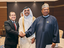 HE Barkindo with OPEC Conference President and Algeria's Minister of Energy (right to left)