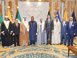 Group picture of OPEC and non-OPEC ministers and OPEC's Secretary General with HH Sheikh Sabah Al-Ahmad Al-Sabah, the Emir of Kuwait