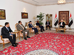 HE Barkindo and officials from the OPEC Secretariat meet with Iraq's President, HE Dr. Fuad Masum