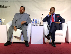 HE Dr. Emmanuel Ibe Kachikwu, Nigeria's Minister of State for Petroleum Resources (r) and HE Barkindo, OPEC Secretary General, attend the 16th NOG Conference