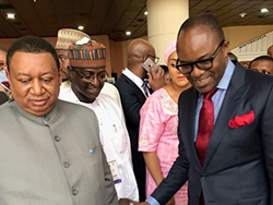 HE Dr. Kachikwu and HE Barkindo take a tour of the conference's exhibition