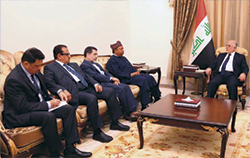 HE Barkindo and OPEC officials meet with Iraq's Prime Minister in Baghdad