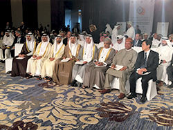 OPEC Secretary General with energy and oil ministers at the 3rd GCC Petroleum Media Forum