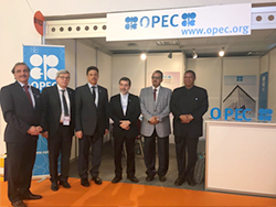 HE Barkindo, OPEC Secretary General, visits the OPEC stand at the WPC