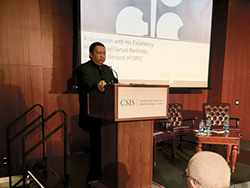 HE Barkindo delivers his remarks at the CSIS