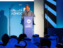 HE Barkindo, OPEC Secretary General delivers his keynote address at ADIPEC 2016