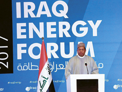 HE Mohammad Sanusi Barkindo, OPEC Secretary General, delivers his speech at the 3rd Iraq Energy Forum