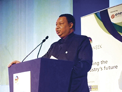 HE Mohammad Sanusi Barkindo, OPEC Secretary General, delivers his keynote address at the IP Week conference