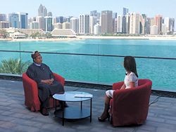 HE Barkindo was interviewed by Sky News Arabia on the sidelines of the Forum
