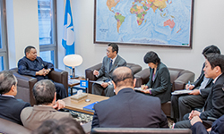 HE Barkindo meets with HE Takagi and his accompanying delegation at the OPEC Secretariat