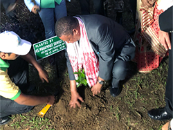 HE Barkindo, OPEC Secretary General, planted a tree in a site close to the well and the refinery