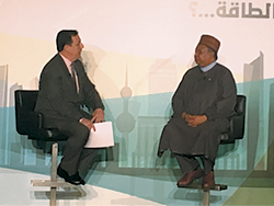 OPEC Secretary General speaking to John Defterios, Emerging Market commentator and CNNMoney anchor, during a panel discussion at the Third GCC Petroleum Media Forum