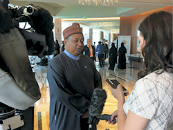 HE Mohammad Sanusi Barkindo, OPEC Secretary General, speaks to Bloomberg at the Forum