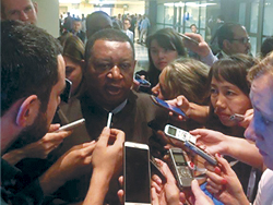 OPEC Secretary General speaks to the media in Istanbul