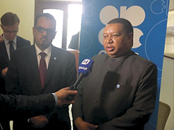 HE Barkindo, OPEC Secretary General, speaks to the media in Moscow