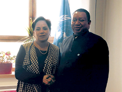 UNFCCC Executive Secretary with OPEC Secretary General