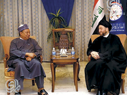 HE Barkindo (l) meets with Mr. Ammar Al-Hakim
