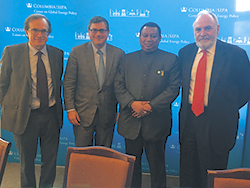 HE Mohammad Sanusi Barkindo, OPEC Secretary General, meets with Prof. Jason Bordoff, Director and founder of the CGEP and other energy specialists