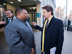 HE Guillaume Long, Ecuador's Foreign Minister (r) with HE Mohammad Sanusi Barkindo, OPEC Secretary General