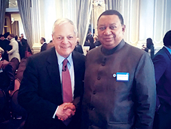OPEC Secretary General (r) with Mr. Ed Morse, Global Head of Commodities Research at Citigroup