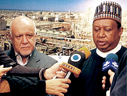HE Zanganeh, Iran's Minister of Petroleum (l) with HE Barkindo, OPEC Secretary General
