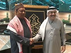 HE Mohammad Sanusi Barkindo, OPEC Secretary General (l), with Mr. Amin Nasser, President and CEO of Saudi Aramco