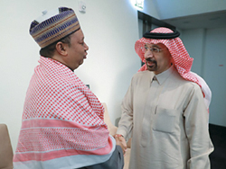 HE Khalid A. Al-Falih, Saudi Arabia's Minister of Energy, Industry and Mineral Resources and President of the OPEC Conference (r), with HE Mohammad Sanusi Barkindo, OPEC Secretary General