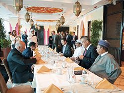 OPEC Secretary General  joined the Conference President and other ministers at an informal breakfast meeting
