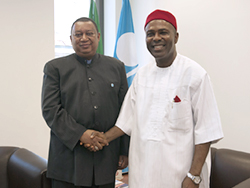 HE Dr. Onu (right) and HE Barkindo