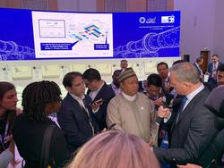 HE Mohammad Sanusi Barkindo speaks to Members of the Press at ADIPEC 2019 in Abu Dhabi